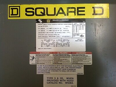 Sorgel SQUARE D EE15S3H, SINGLE PHASE GENERAL PURPOSE TRANSFORMER