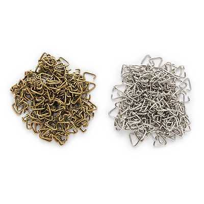 100 Piece Triangle Pinch Clip Bail Connectors Findings Jewelry Making 9x8mm