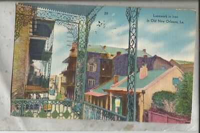1955 linen postcard NEW ORLEANS LA French Quarter