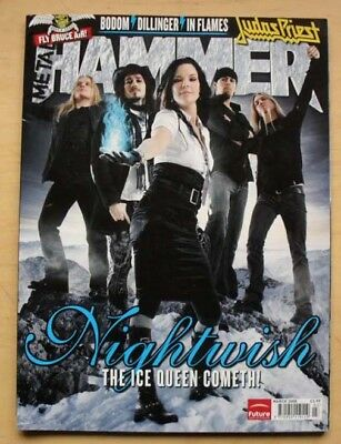 Nightwish Metal Hammer Magazine March 2008 Nightwish Cover With More Inside Uk