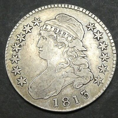 1813 50C Capped Bust Half Dollar Us Mint Silver Coin