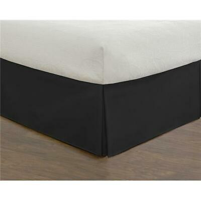 Todays Home Levinsohn Basic Microfiber Tailored 14 in. Bed Skirt Black - Twin XL