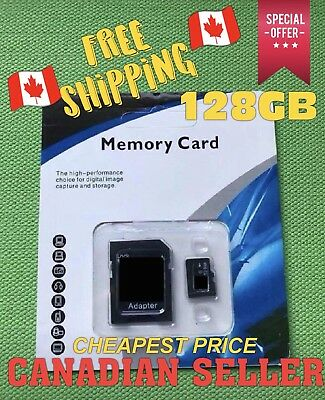 Micro SD Card 128GB Universal High Speed SDXC SDHC Flash TF Class 10 NEW Canada