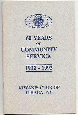 Kiwanis Club Ithaca NY 1932 1992 60 Years of Community Service Booklet