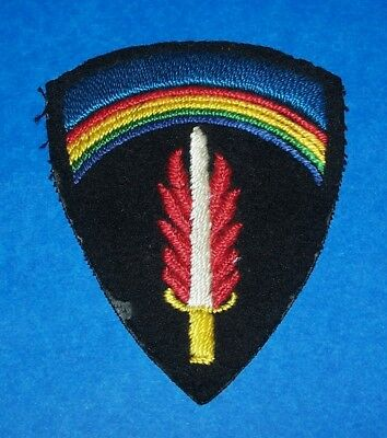 Original Cut-Edge Ww2 British Made Hand Embroidered Shaef Patch