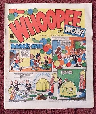 Whoopee And Wow Comic  3 December 1983. Unsold Newsagent Stock. Unread. V/fn+