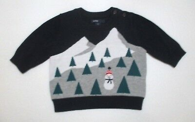 b6af8adb7401 INFANT BOYS BABY Gap Navy Blue Cable Knit Pullover Sweater Size 0-3 ...