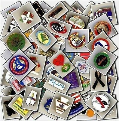 """Lot of 100 collectible Lapel Pins 1/2""""-3"""" ~starter collection!"""