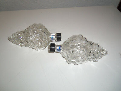 Lot of 2 Vintage BUNCH OF GRAPES Glass Bottles HAND BLOWN TOSCANY Turkey