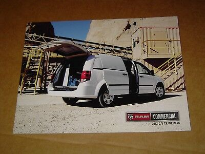 2013 Dodge Ram Commercial C/v Tradesman Van Sales Brochure Mint! 8 Pages