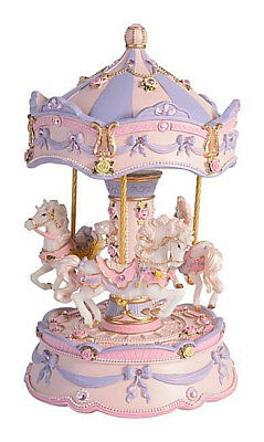 Divine MUSICAL HORSE CAROUSEL Child Baby Newborn Christening Wind Up Keepsake