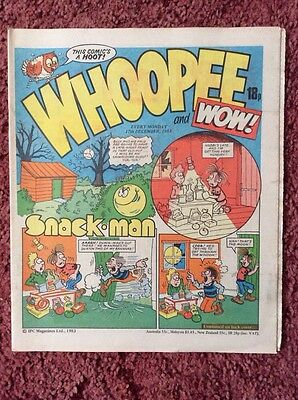Whoopee And Wow Comic 17 December 1983. Unsold Newsagent Stock. Unread. V/fn+