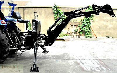BACKHOE TRACTOR ATTACHMENT BH6600 Bucket PTO 3 Pt Link - Excavator Hydraulic New