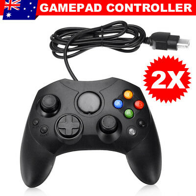 2 Dual Shock Game Pad Controller USB Joypad For Microsoft PC Original XBOX Black