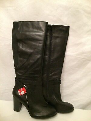 946e3878769 Marc Fisher Sz 10M Kessler black Leather Knee High Boots New Womens Shoes