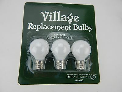 Dept 56 Village Replacement Round Light Bulb 3 Bulbs #99245 New in Packaging D56