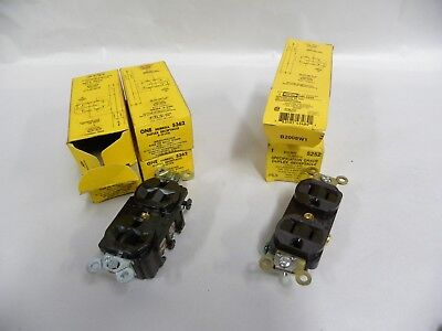 """Lot """"6"""" UNUSED Hubbell 5362 & 5252 Duplex Receptacle Plug Outlet (A12)"""