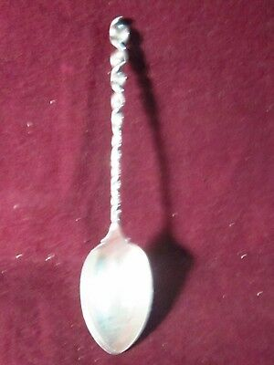 "Sterling Whiting ROUND TWIST DEMITASSE SPOON NM  3 3/4"" 6g"