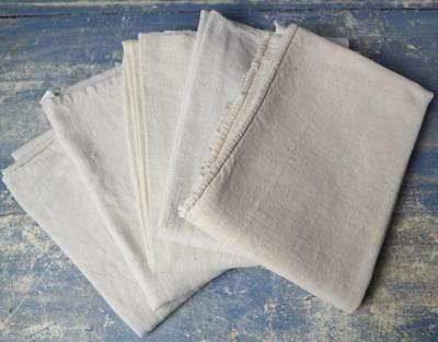 5 French Antique Linen Torchons Teatowels Job Lot French Torch Hand Towels