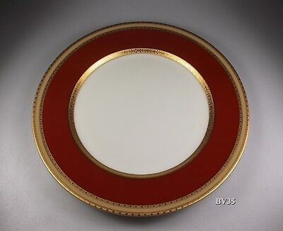 "Mikasa French Embassy Red L2829 Dinner Plate  10 7/8"" - Plates - Perfect"