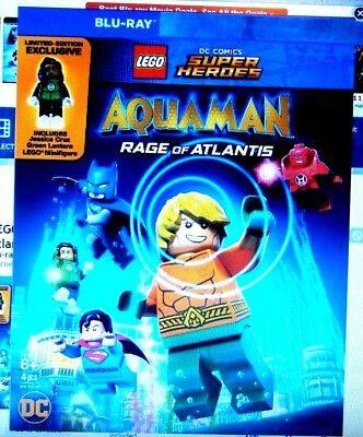 "Lego SuperHeroes Aquaman "" Blu-Ray Movie Disc, Blu-ray Case, Artwork"