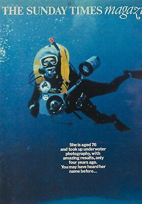LENI RIEFENSTAHL on the cover of UK Sunday Times magazine UNDERWATER PHOTOGRAPHY