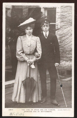 1906 Rppc, King Of Spain & Fiancee, Princess Ena Of Battenberg