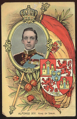 Early Art Post Card, Alfonso Xiii, King Of Spain