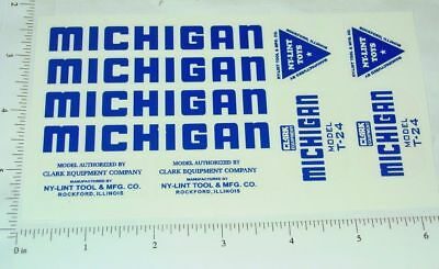 Nylint Michigan Crane Replacement Stickers       NY-029