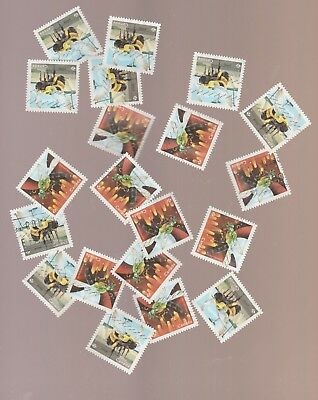 Canada 2018 Bees 10 Used Sets (20 stamps)