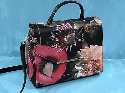 2675558728c8 Ted Baker Marcco Kensington Floral Leather Purse Black Perfect For Easter