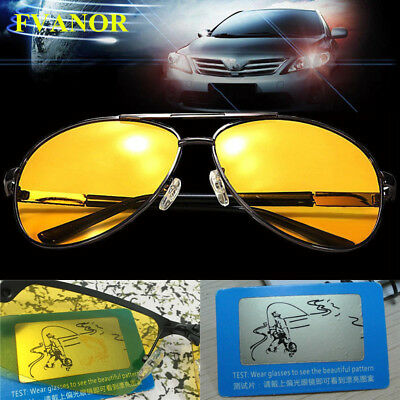 0b7427f8c7 NEW HD Night Vision Polarized Glasses Driving Aviator Sunglasses UV400  Eyewear