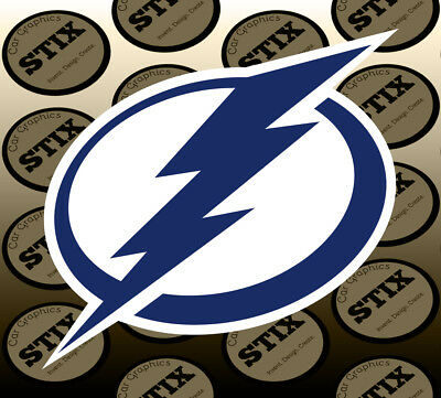Tampa Bay Lightning Logo NHL Color Die Cut Vinyl Sticker Car Window Bumper Decal
