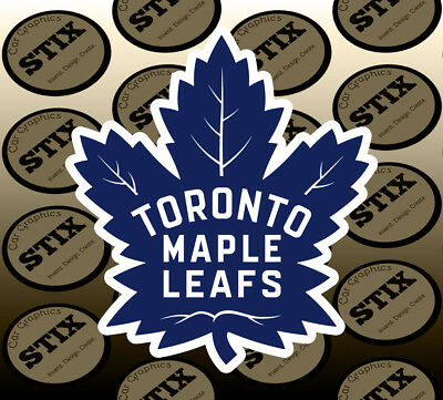 Toronto Maple Leafs Logo NHL Color Die Cut Vinyl Sticker Car Window Bumper Decal