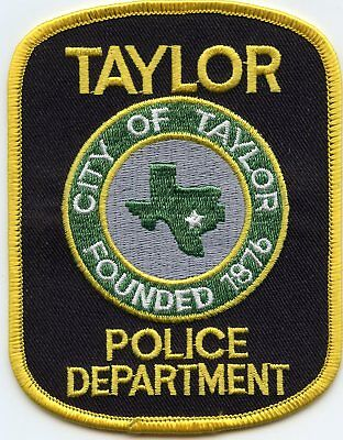 Taylor Texas Tx Police Patch