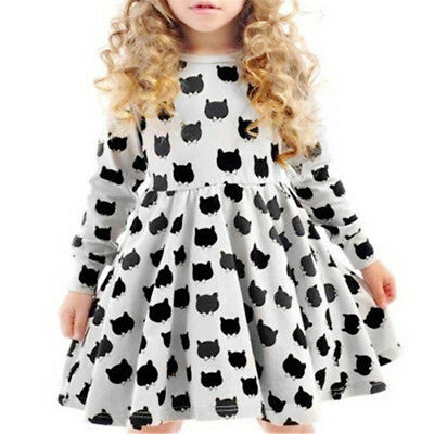 Kid Girl Toddler Baby Princess Dress Party Pageant Wedding Skirt Dresses Outfits