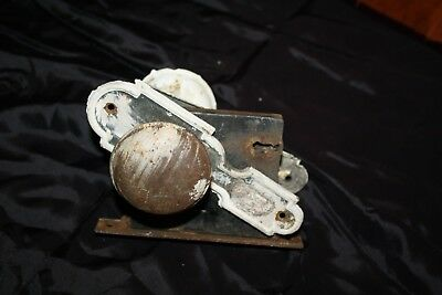 Pair of Vintage Door Knobs  w/ Back Plates & Lock Mortise