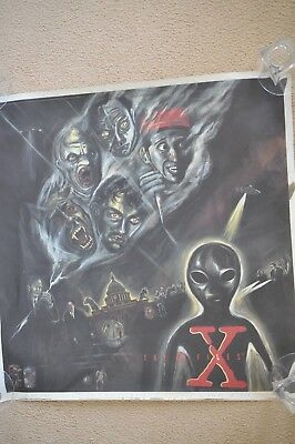 X-Files Poster  Rare! Artwork by Sue Coe From original X-Files Music CD Artwork!