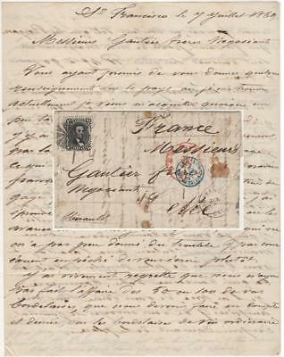 Letter to French wine wholesalers regarding the California wine market - 1869