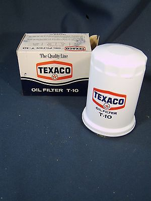 Texaco T-10 Oil Filter Advertising Tin Can Filter Is Old Gas Station Attic Fresh