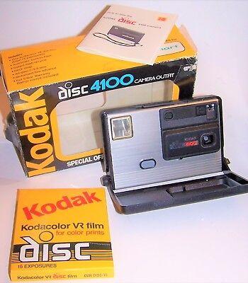 Vintage Kodak Disc 4100 Camera in Box with Instructions and Brand New Film Disc
