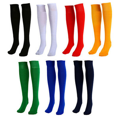 Unisex Football Plain Long Sock Knee High Large Hockey Soccer Rugby Stocks US