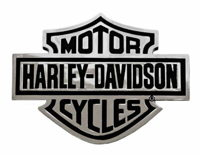 Harley-Davidson 3-D Bar & Shield Chrome Injection Molded Decal Emblem