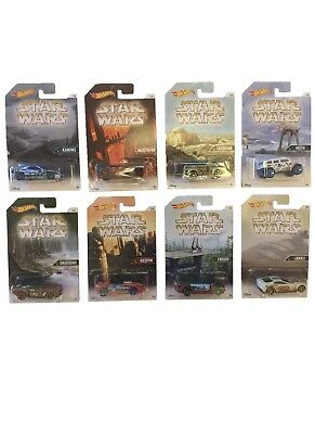 Star Wars - Hot Wheels Die-Cast Cars - Set of 8 - New & Sealed -Planets