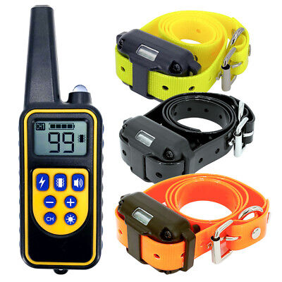 880 Yard Dog Shock Collar With Remote Waterproof Electric For Large Pet Training
