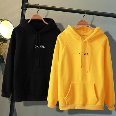 Womens Sweatshirt Long Sleeve Hoodies Pullover Ladies Winter Jumper Tops Coat