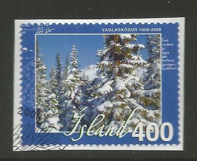 ICELAND 2008 100th ANNIV OF FORESTRY ON A PIECE, SCOTT 1204, USED (o)