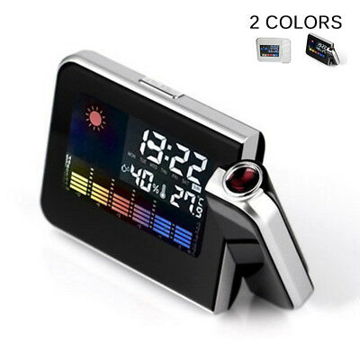 Digital LED Projection Alarm Clock Radio Weather Thermometer Snooze Backlight