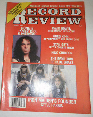 Record Review Magazine David Bowie & Iron Maiden Dio August 1983 071614R