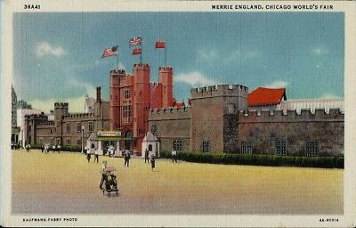 Merrie England CHICAGO WORLDS FAIR 1933-34 Vintage COP Postcard